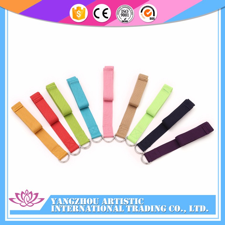 China stretching cheap polyester yoga strap for Cross Fit Training