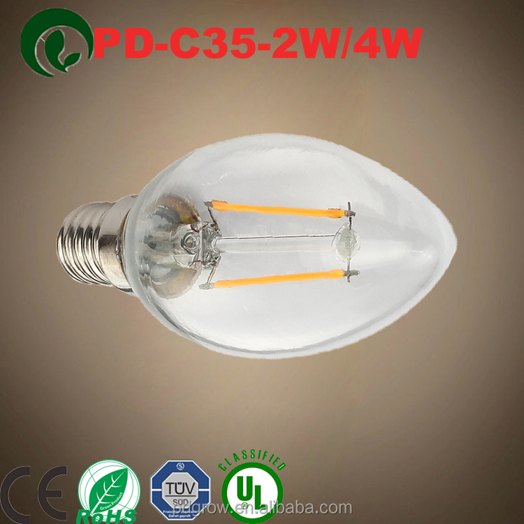 CE marked housing lighting and decorating glass warm white 3w led candle light/e14 led