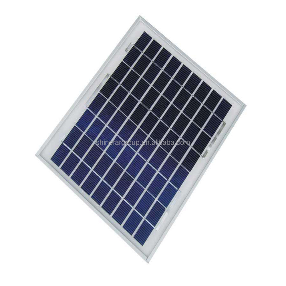 Shinefar portable and mini poly 10w 20w 30w for 500 1000 watt solar panel price india