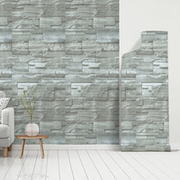 Self stick wall covering waterproof 3D thick vinyl stone pattern wallpaper