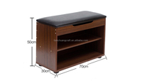 Alibaba Gold supplier and Trade assurance wood storage bench wooden shoe stool