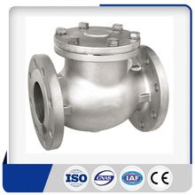 Stainless Steel 1/2 -12 inch Class150/300 spring loaded check valve for compressed air