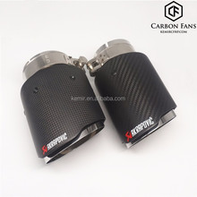 Universal Akrapovic Carbon fiber Exhaust tip with 304 Stainless Steel, 51/60/63/67/70/76mm--76/89/101/114mm