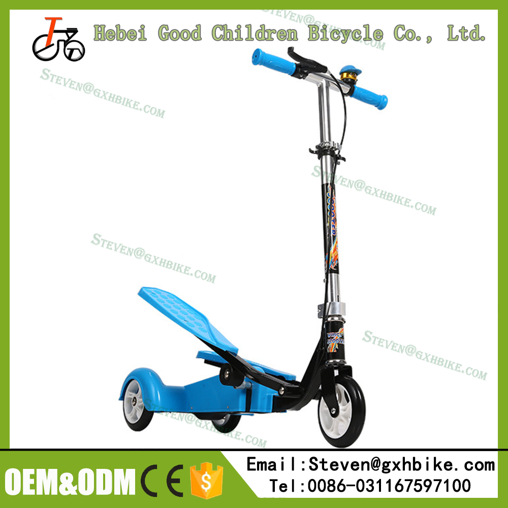 2016 Hot sales double pedals scooter three wheels kids Kick Scooter with Cheap price