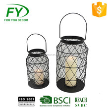 2017 Gifts & Decor Large Table Top Metal Candle Holder Lantern