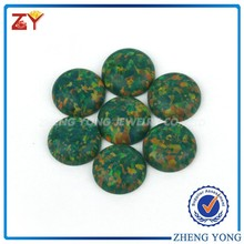 Loose wholesale green round cabochon 10mm fire opals for sale