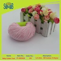 shanghai shingmore bridge oeko tex 100 baumwolle factory hot selling eco friendly nylon elastic cotton for knitting