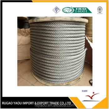 Top quality! API oil rig drilling rig steel wire rope
