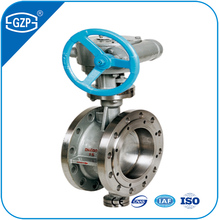 Hot sales Ansi GB DIN standard body SS304 metal seal DN150 Manual operated butterfly valve of industrial manufacturer