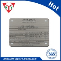 custom Debossed chemical etching metal product tags