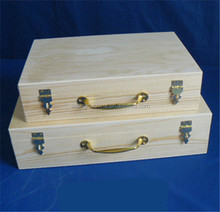 2015 new handmade pine wooden file box with handle wholesale