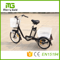 Cheap 20inch small steel Farm Cargo Electric Tricycle/Adult Electric Dump Tricycle