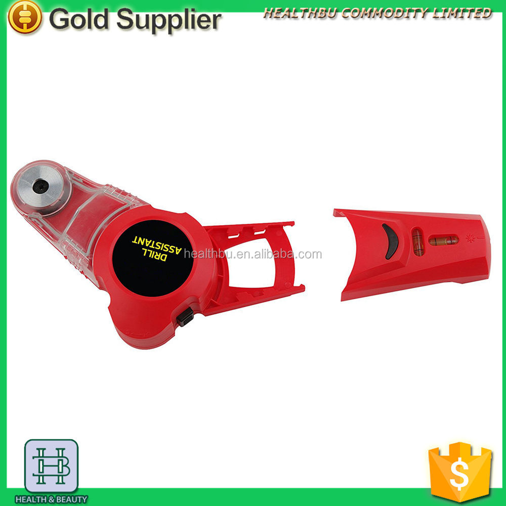DIY tool LASER LEVEL WITH DRILLING ARRANGEMENT AND DUST COLLECTOR