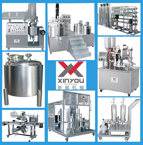 Cosmetic hair gel making machine Vacuum Emulsifying Mixer