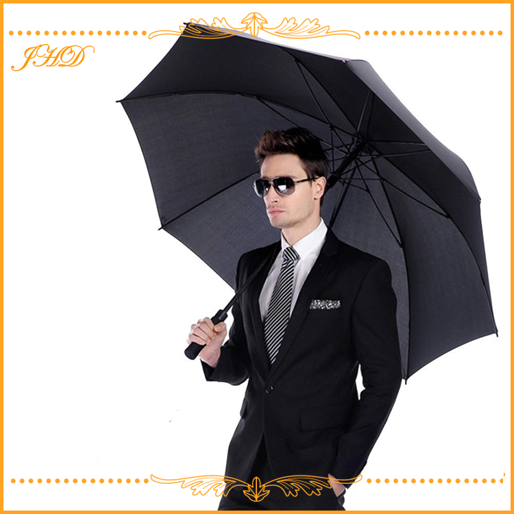 business men use 62 inch straight windproof golf umbrella big size for two people