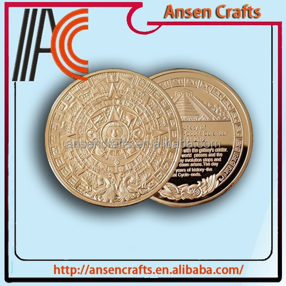 Cheap Custom Made Souvenir Coins with Gold Plated