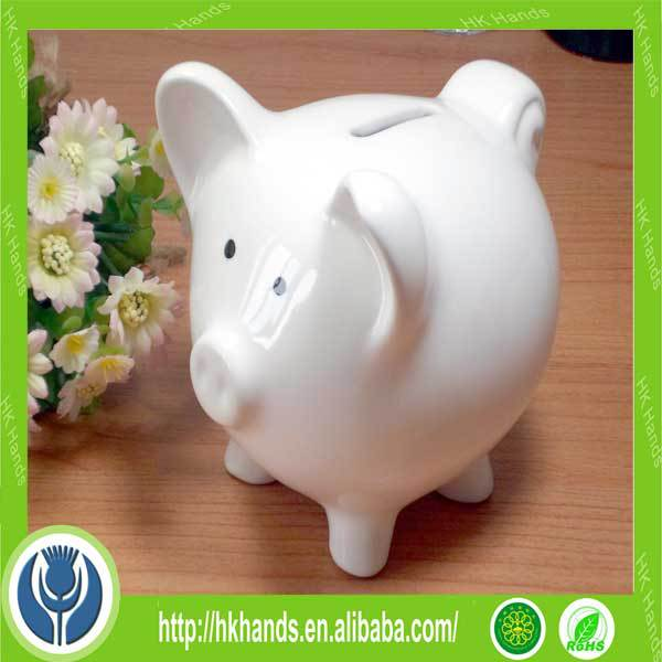Diy ceramic piggy bank diy ceramic piggy bank with brush for Create your own piggy bank