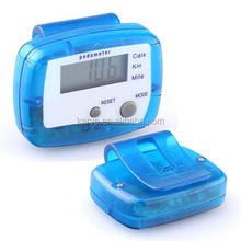 new arrival manufacture Belt clip calorie manual PEDOMETER with LED