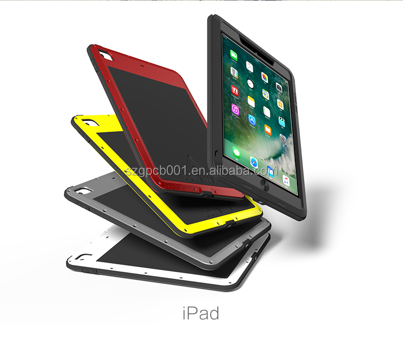 LOVE MEI TAKTIK CASE Metal Aluminium Alloy+Gorilla Glass + Silicone Hybrid Case for New IPAD 9.7 ANTI-SHOCK WATER PROOF Cover