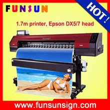 Funsunjet FS-1700M 1.7m feather flags printing machine for sale with dx5 head 1440dpi