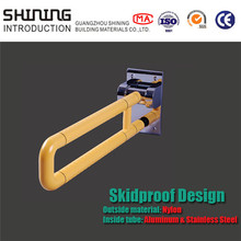 bathroom handicap disabled toilet folding grab bar