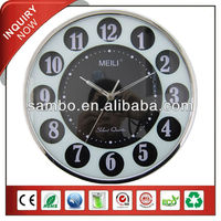 [MEILI] Plastic Quartz Wall Clock For Festerval Gift