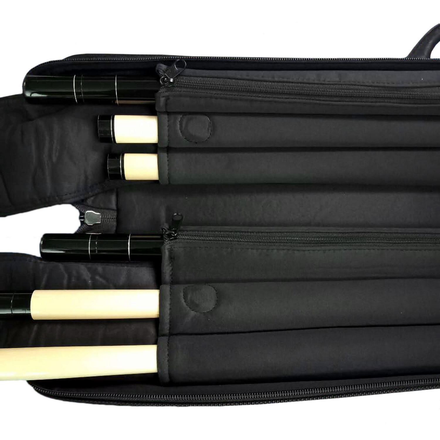 Professional Billiard Cue Case, 1/2 Joint Pool Cue Case, Billiard Leather Case