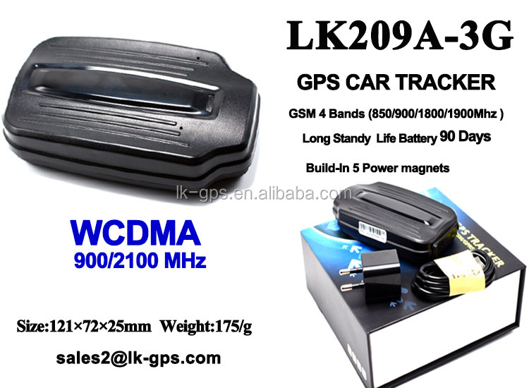 Gps Tracking System Magneticgps tracker with modem wifi Support 3G WCDMA Sim Card --LK209A-3G