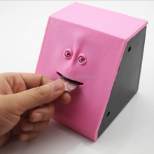 Creative Human Face Shape Saving Pot, Stealing Saving Money Box/Plastic Coin Bank