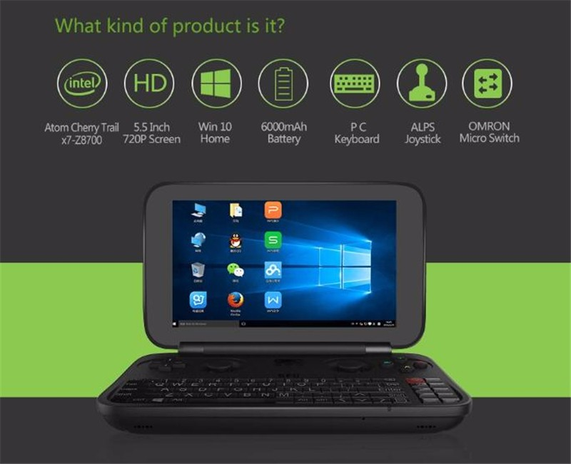 The World First Win 10 System Handheld Game Console GPD WIN 5.5 Inch Quad Core computer game online gta game download