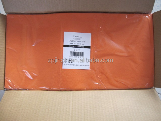 Best price PP spunbonded Non Woven Disposable TNT Table Cloth/Table Cover for wedding ,outdoor ,party