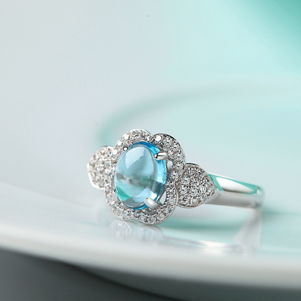 Factory direct sale topaz 925 Sterling Silver ring