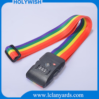 New designed promotional luggage strap with fancy custom logo printing