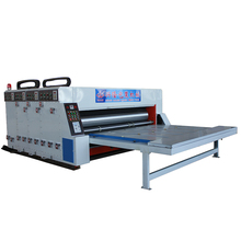 Semi-automatic 4 color flexo die cutting and printing machine