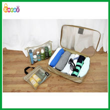 Encai Manufacturer Travel Tote Organizer Bag Set 3 in 1/Clothes Storage Bag Set/Folding Toiletry Bags In Trolley set