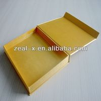 Good quality aluminum box fabrication fabric gift box fabric hat boxes