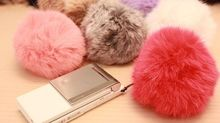 Colorful racoon dog fur/fox fur/rabbit fur Balls to with hat/cap10-15cm