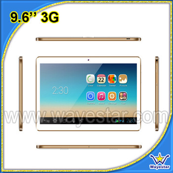 "9.6"" tablet 16gb rom 1gb ram Android 5.1 3g tablet pc"