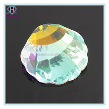 attractive multi-colour fan-shaped gems stones