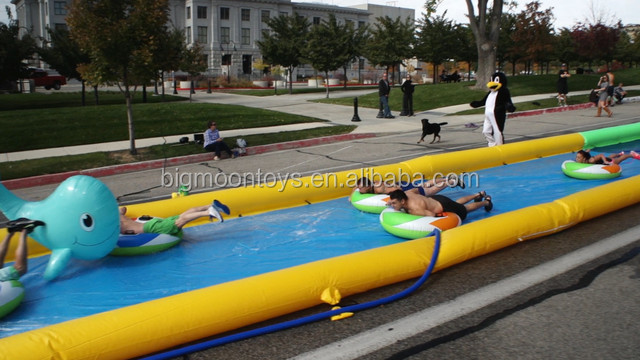100ft inflatable city slide for sale / giant water festival slide the city