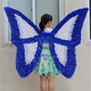 White and blue butterfly shape feather angle wings