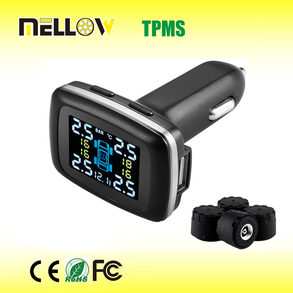 cheap digital wireless transmission tire pressure monitor system with 4 external senors