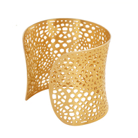 Imitation Brazilian Gold Jewelry Wholesale, 361L Stainless Steel Gold Plated Buckingham Jewelry Bangle