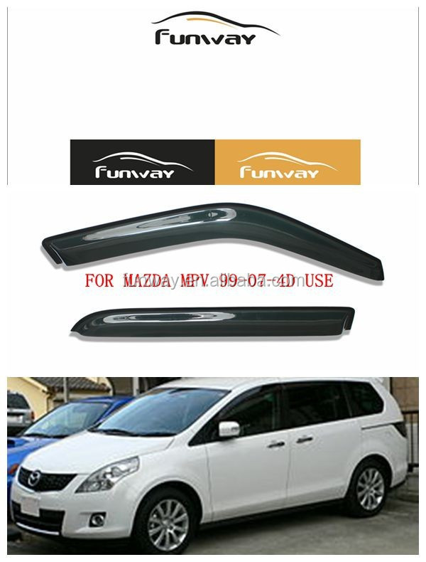 CAR DOOR VISOR RAIN DEFLECTOR FOR MAZDA MPV 1999-2007 4D USE