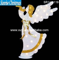LED Lighted christmas angel with lights