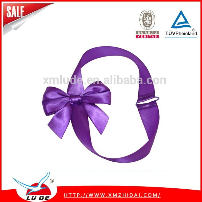 2015 wholesale gift decorating elastic packaging satin ribbon bow