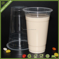 2016 PP Customize Disposable Plastic Cup with Lid, Juice Bubble Tea Ice Coffee Cups, Resusable Plastic Cup