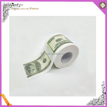 Wholesale 2 ply US dollar Euro money printed toilet paper roll