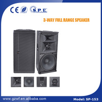 SP-153 SPE AUDIO pro sound system 15 inch 3 way 1000 watt speaker system