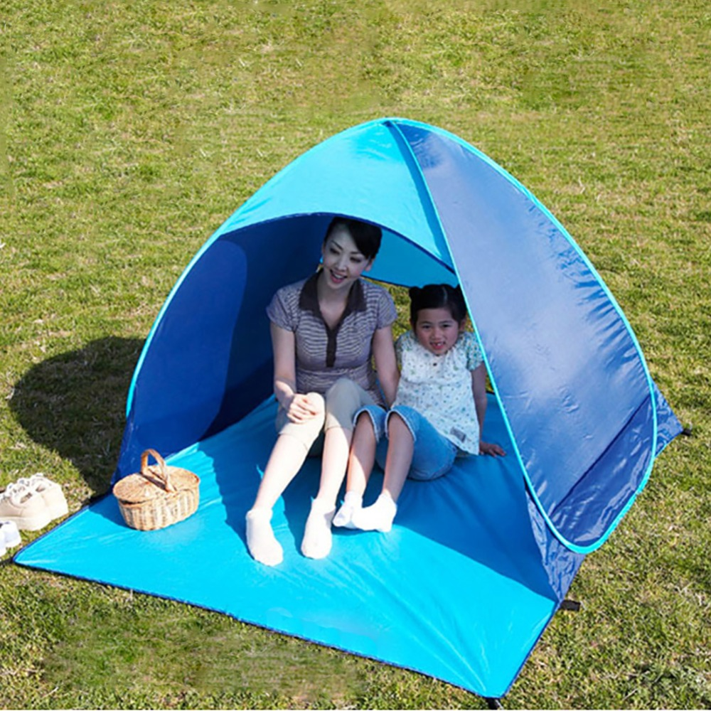 Outdoor Camping Hiking Beach Tent UV Protection Fully Automatic Sun Shade Quick Open Pop Up Beach Awning Fishing Tent